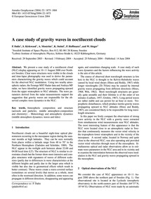 A Case Study of Gravity Waves in Noctilu... by Dalin, P.