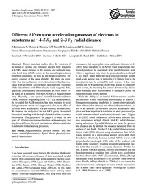Different Alfvén Wave Acceleration Proce... by Janhunen, P.