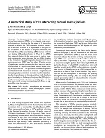 A Numerical Study of Two Interacting Cor... by Schmidt, J. M.