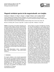 Magnetic Turbulent Spectra in the Magnet... by Sahraoui, F.