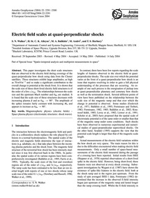 Electric Field Scales at Quasi-perpendic... by Walker, S. N.