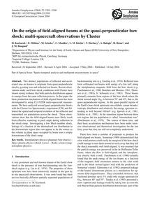 On the Origin of Field-aligned Beams at ... by Kucharek, H.