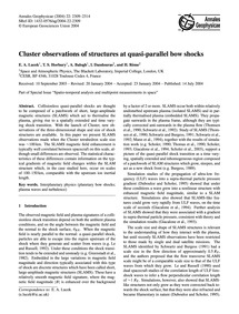 Cluster Observations of Structures at Qu... by Lucek, E. A.