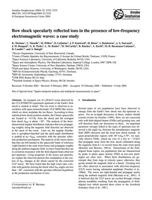 Bow Shock Specularly Reflected Ions in t... by Meziane, K.