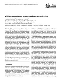Middle-energy Electron Anisotropies in t... by Janhunen, P.