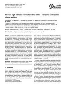 Intense High-altitude Auroral Electric F... by Johansson, T.