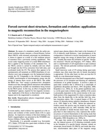 Forced Current Sheet Structure, Formatio... by Domrin, V. I.