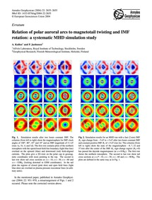 Erratum Relation of Polar Auroral Arcs t... by Kullen, A.