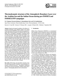 Thermodynamic Structure of the Atmospher... by Ramana, M. V.