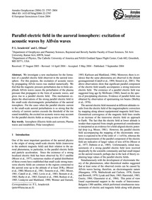 Parallel Electric Field in the Auroral I... by Israelevich, P. L.