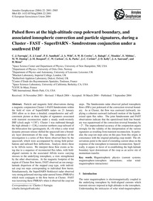 Pulsed Flows at the High-altitude Cusp P... by Farrugia, C. J.