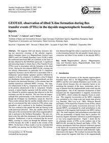 Geotail Observation of Tilted X-line For... by Nowada, M.