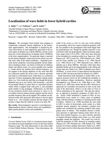 Localization of Wave Fields in Lower Hyb... by Tjulin, A.