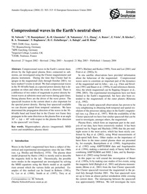 Compressional Waves in the Earth's Neutr... by Volwerk, M.