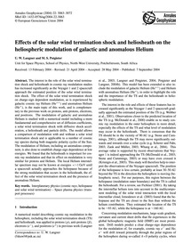 Effects of the Solar Wind Termination Sh... by Langner, U. W.