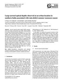 Large Aerosol Optical Depths Observed at... by Vinoj, V.