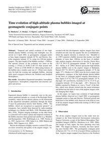 Time Evolution of High-altitude Plasma B... by Shiokawa, K.