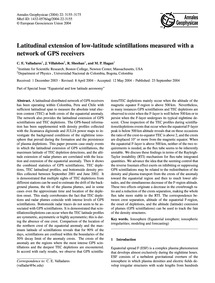 Latitudinal Extension of Low-latitude Sc... by Valladares, C. E.