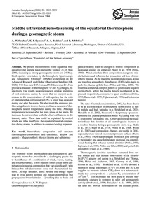 Middle Ultraviolet Remote Sensing of the... by Stephan, A. W.
