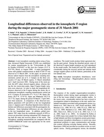Longitudinal Differences Observed in the... by Sahai, Y.
