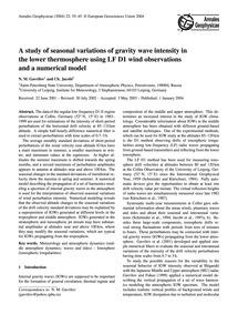 A Study of Seasonal Variations of Gravit... by Gavrilov, N. M.