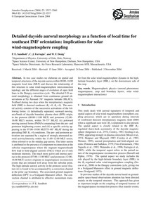 Detailed Dayside Auroral Morphology as a... by Sandholt, P. E.