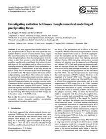 Investigating Radiation Belt Losses Thou... by Rodger, C. J.