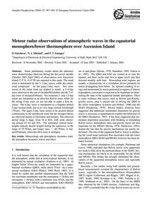 Meteor Radar Observations of Atmospheric... by Pancheva, D.