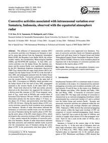 Convective Activities Associated with In... by Seto, T. H.