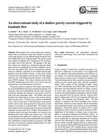 An Observational Study of a Shallow Grav... by Adachi, A.