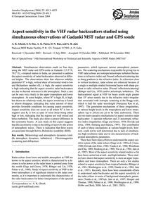 Aspect Sensitivity in the Vhf Radar Back... by Ghosh, A. K.