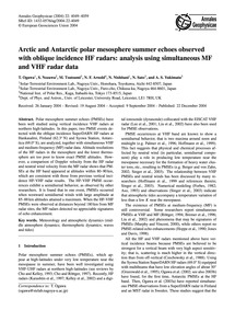 Arctic and Antarctic Polar Mesosphere Su... by Ogawa, T.