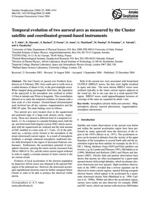 Temporal Evolution of Two Auroral Arcs a... by Aikio, A. T.