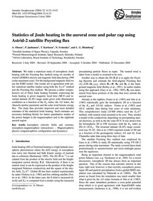 Statistics of Joule Heating in the Auror... by Olsson, A.