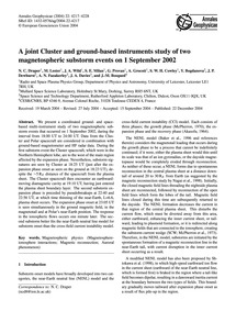 A Joint Cluster and Ground-based Instrum... by Draper, N. C.