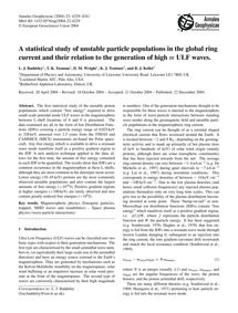 A Statistical Study of Unstable Particle... by Baddeley, L. J.
