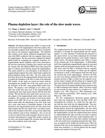 Plasma Depletion Layer: the Role of the ... by Wang, Y. L.