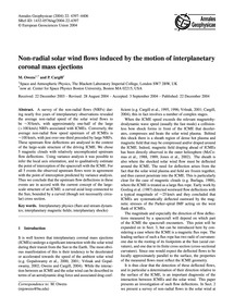 Non-radial Solar Wind Flows Induced by t... by Owens, M.
