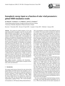 Ionospheric Energy Input as a Function o... by Palmroth, M.