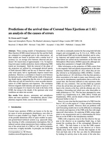 Predictions of the Arrival Time of Coron... by Owens, M.