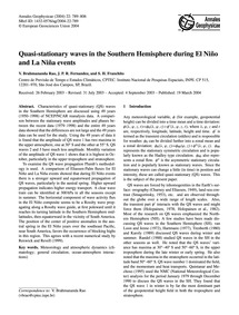 Quasi-stationary Waves in the Southern H... by Brahmananda Rao, V.