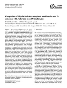 Comparison of High-latitude Thermospheri... by Griffin, E. M.