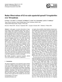 Radar Observations of 8.3-m Scale Equato... by Tiwari, D.