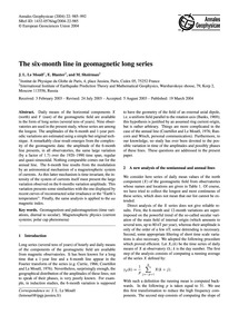 The Six-month Line in Geomagnetic Long S... by Le Mouël, J. L.