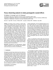 Fuzzy Clustering Analysis to Study Geoma... by Sridharan, M.