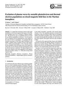 Excitation of Plasma Waves by Unstable P... by Borisov, N.