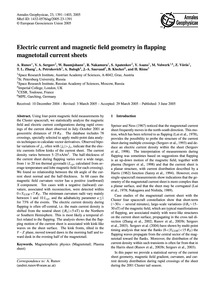 Electric Current and Magnetic Field Geom... by Runov, A.
