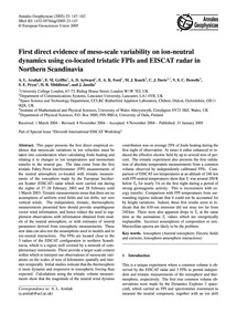 First Direct Evidence of Meso-scale Vari... by Aruliah, A. L.