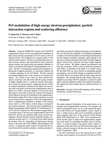 Pc5 Modulation of High Energy Electron P... by Spanswick, E.