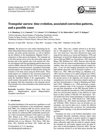 Transpolar Aurora: Time Evolution, Assoc... by Blomberg, L. G.